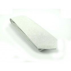zilveren stropdas smal