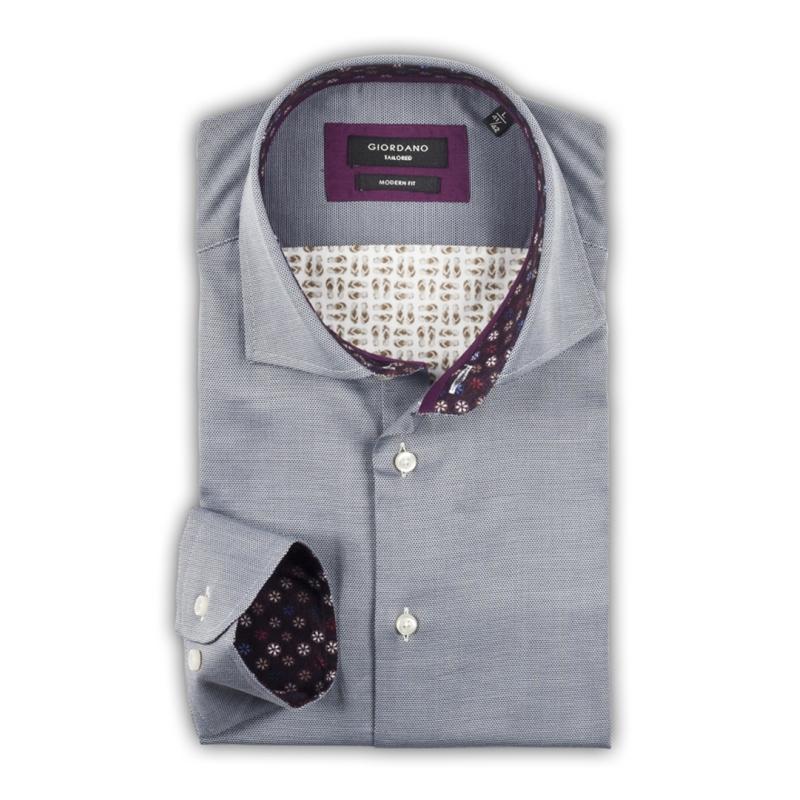 4ce398970ec Giordano overhemd grijs