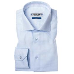 Ledûb lichtblauw tailored fit