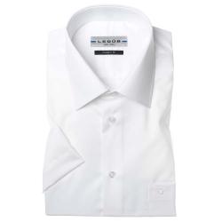 Ledub modern fit wit korte mouw