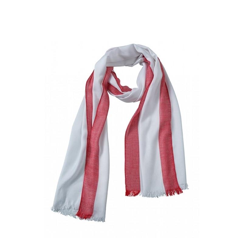 Sjaal wit rood