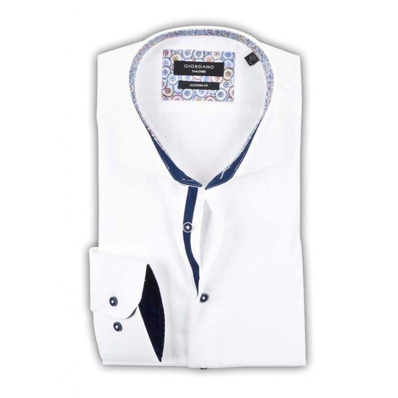 Overhemd Wit.Wit Overhemd Giordano