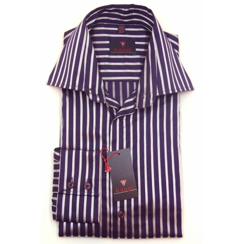 Haupt overhemd met lange mouw paars zilver