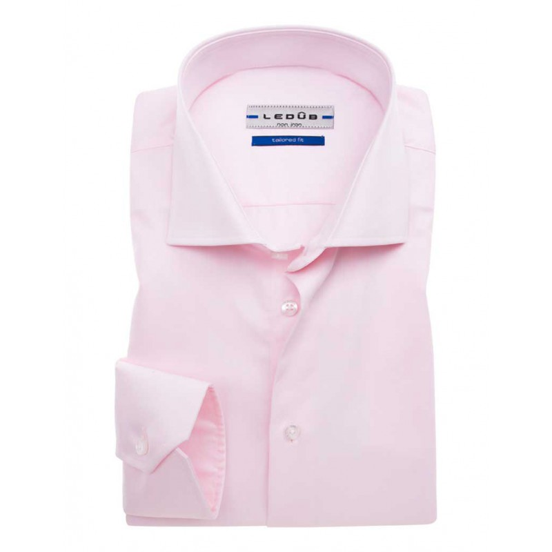 Roze Overhemd.Ledub Roze Overhemd Tailored Fit