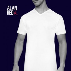 Alan Red v-hals zwart